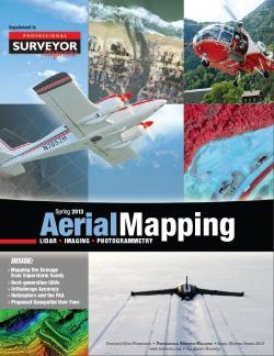 Aerial Mapping Spring 2013 Cover Image